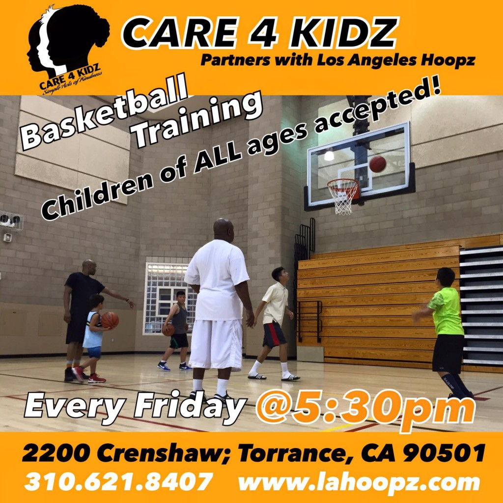 Care 4 Kidz, basketball clinic every Friday